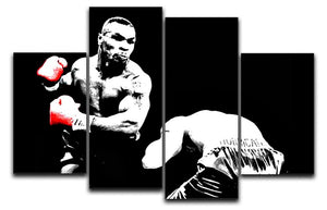 Mike Tyson Knockout 4 Split Panel Canvas  - Canvas Art Rocks - 1