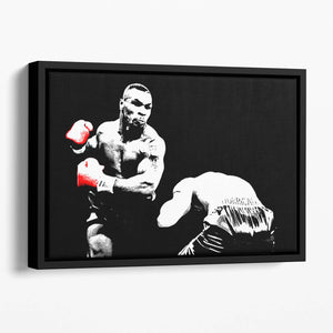 Mike Tyson Knockout Floating Framed Canvas