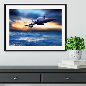 Military airplan on the speed Framed Print - Canvas Art Rocks - 1
