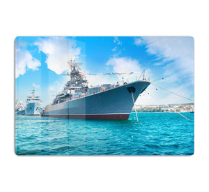 Military sea landscape with blue sky HD Metal Print
