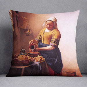 Milk maid by Vermeer Cushion