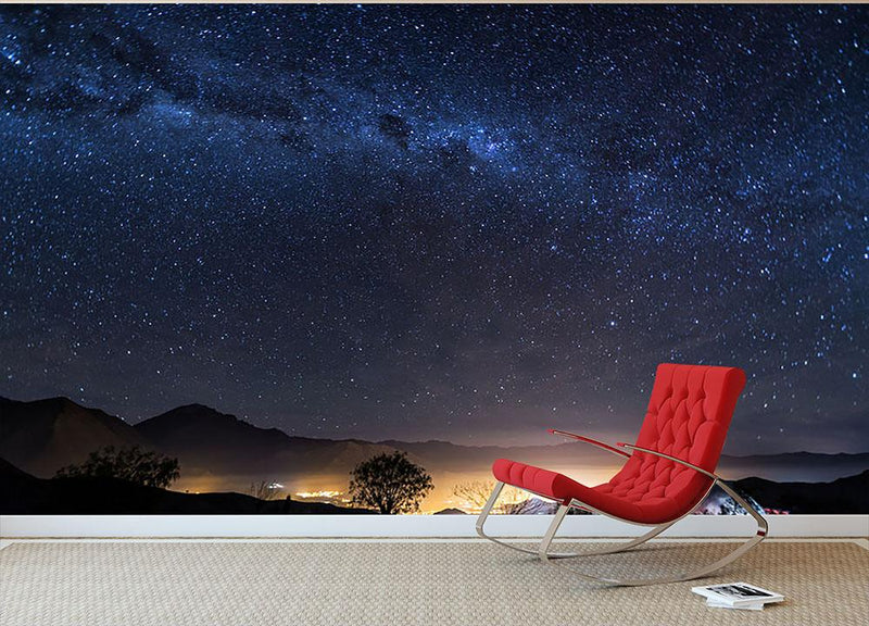 Milky Way over the Elqui Valley Wall Mural Wallpaper - Canvas Art Rocks - 1