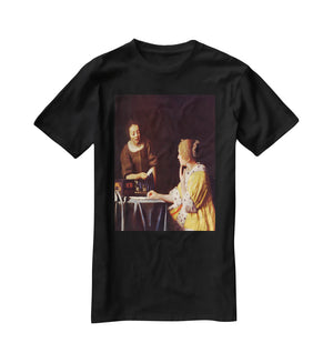 Mistress and maid by Vermeer T-Shirt - Canvas Art Rocks - 1