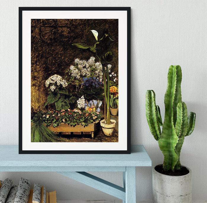 Mixed Spring Flowers by Renoir Framed Print