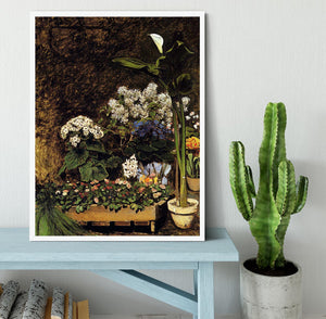 Mixed Spring Flowers by Renoir Framed Print - Canvas Art Rocks -6