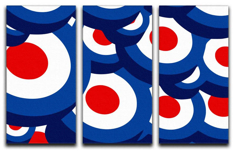 Mod 3D Pattern Split-Panel Canvas Print - Canvas Art Rocks