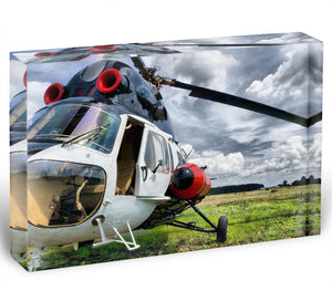 Modern light helicopter Acrylic Block - Canvas Art Rocks - 1