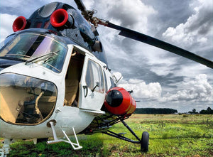 Modern light helicopter Wall Mural Wallpaper - Canvas Art Rocks - 1