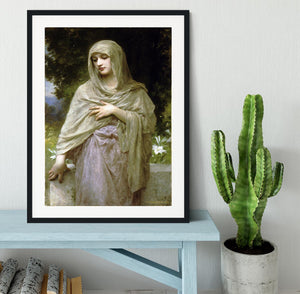 Modestie By Bouguereau Framed Print - Canvas Art Rocks - 1