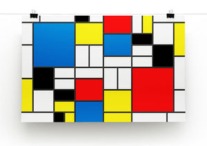 Mondrian Design Print - Canvas Art Rocks - 2