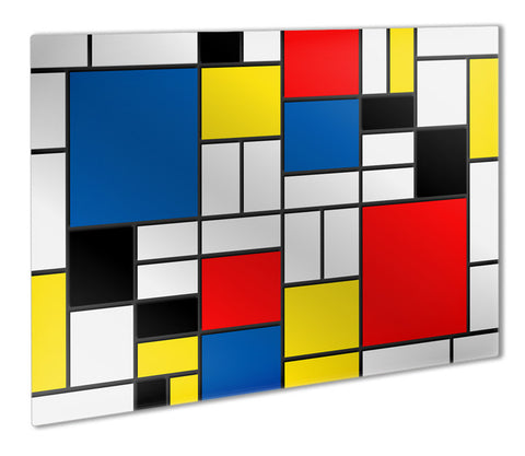 Mondrian Style Metal Print - They'll Love Wall Art - 1