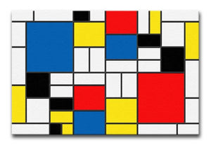 Mondrian Design Print - Canvas Art Rocks - 1