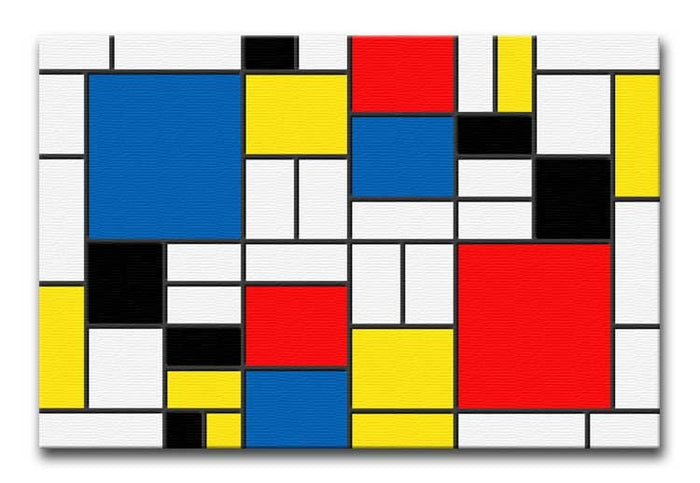 Mondrian Design Canvas Print or Poster