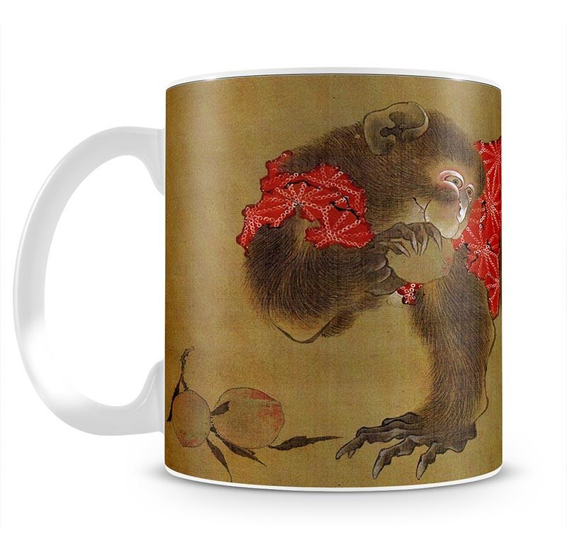 Monkey by Hokusai Mug - Canvas Art Rocks - 2