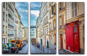 Montmartre in Paris 3 Split Panel Canvas Print - Canvas Art Rocks - 1