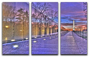 Monument at sunrise 3 Split Panel Canvas Print - Canvas Art Rocks - 1