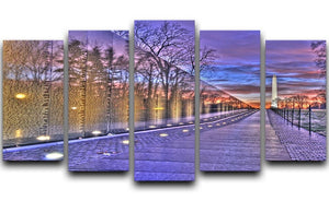 Monument at sunrise 5 Split Panel Canvas  - Canvas Art Rocks - 1