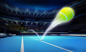Motion blur tennis Wall Mural Wallpaper - Canvas Art Rocks - 1