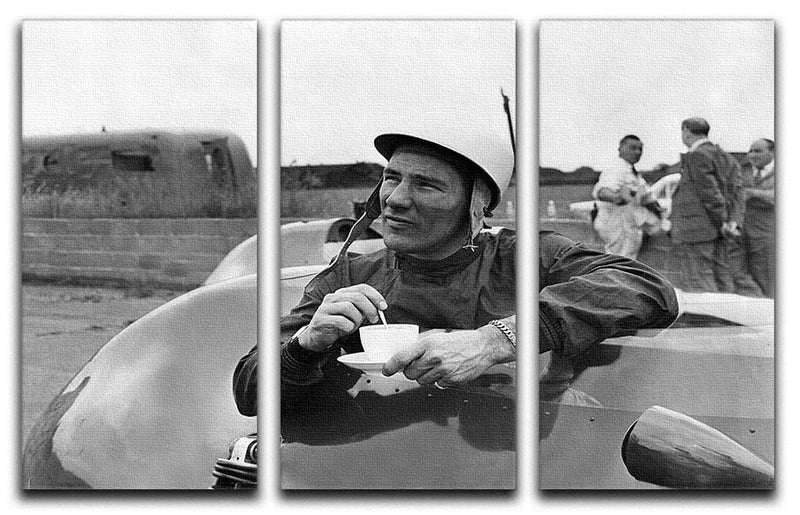 Motor racing driver Stirling Moss 3 Split Panel Canvas Print - Canvas Art Rocks - 1