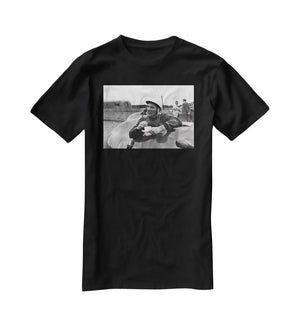 Motor racing driver Stirling Moss T-Shirt - Canvas Art Rocks - 1