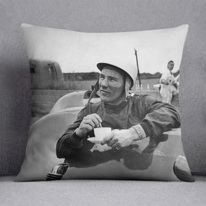 Motor racing driver Stirling Moss Cushion