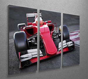 Motor sports race car 3 Split Panel Canvas Print - Canvas Art Rocks - 2
