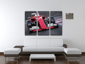 Motor sports race car 3 Split Panel Canvas Print - Canvas Art Rocks - 3