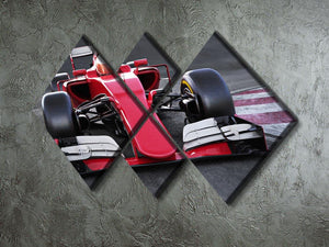 Motor sports race car 4 Square Multi Panel Canvas  - Canvas Art Rocks - 2