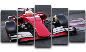 Motor sports race car 5 Split Panel Canvas  - Canvas Art Rocks - 1