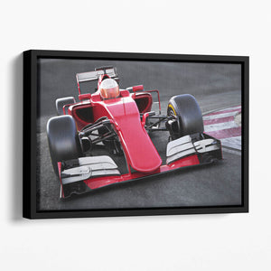 Motor sports race car Floating Framed Canvas