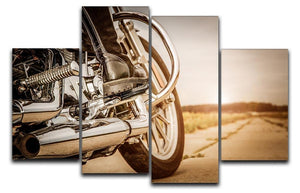 Motorbike Close Up 4 Split Panel Canvas  - Canvas Art Rocks - 1