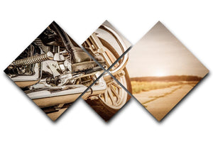 Motorbike Close Up 4 Square Multi Panel Canvas  - Canvas Art Rocks - 1