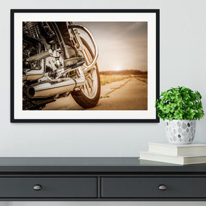 Motorbike Close Up Framed Print - Canvas Art Rocks - 1