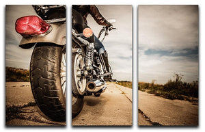 Motorbike Wheel 3 Split Panel Canvas Print - Canvas Art Rocks - 1