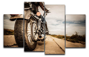 Motorbike Wheel 4 Split Panel Canvas  - Canvas Art Rocks - 1