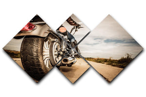 Motorbike Wheel 4 Square Multi Panel Canvas  - Canvas Art Rocks - 1
