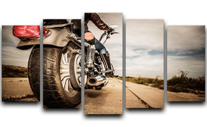 Motorbike Wheel 5 Split Panel Canvas  - Canvas Art Rocks - 1