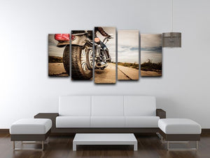 Motorbike Wheel 5 Split Panel Canvas  - Canvas Art Rocks - 3