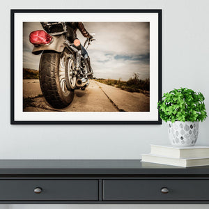 Motorbike Wheel Framed Print - Canvas Art Rocks - 1