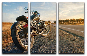 Motorbike under the clear sky 3 Split Panel Canvas Print - Canvas Art Rocks - 1