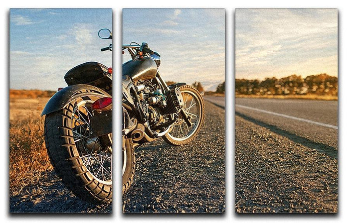 Motorbike under the clear sky 3 Split Panel Canvas Print