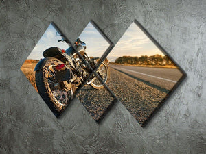 Motorbike under the clear sky 4 Square Multi Panel Canvas  - Canvas Art Rocks - 2