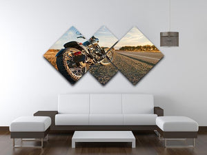 Motorbike under the clear sky 4 Square Multi Panel Canvas  - Canvas Art Rocks - 3