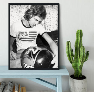 Motorcycle Racer Barry Sheene 1975 Framed Print - Canvas Art Rocks - 2