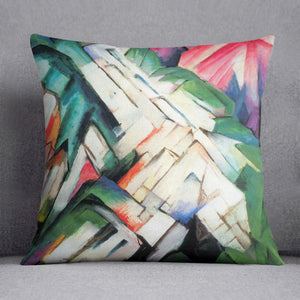 Mountains Landscape by Franz Marc Cushion