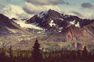 Mountains in Alaska Wall Mural Wallpaper - Canvas Art Rocks - 1