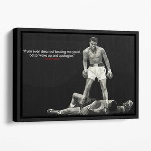 Muhammad Ali Dream Of Beating Me Floating Framed Canvas