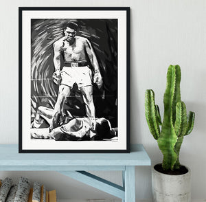 Muhammad Ali Pop Art Framed Print - Canvas Art Rocks - 1