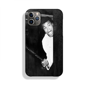 Muhammad Ali larking about at Heathrow Phone Case iPhone 11 Pro Max