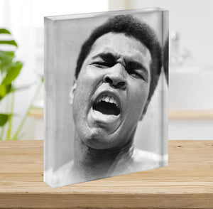 Muhammad Ali shouts Acrylic Block - Canvas Art Rocks - 2